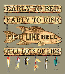 Pure Sport Fishing T-Shirt: Fish Like Hell!