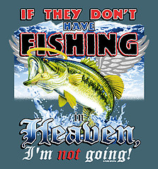 Pure Sport Fishing T-Shirt: Heaven Fishing