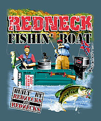Pure Sport Fishing T-Shirt: Redneck Fishing Boat