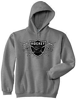 Pure Sport Hooded Hockey Sweatshirt: Hockey Sheild