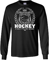 Long Sleeve Hockey T-Shirt: Hockey Laurel