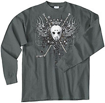 Long Sleeve Hockey T-Shirt: Hockey Wings