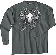 Pure Sport Long Sleeve Hockey T-Shirt: Hockey Wings