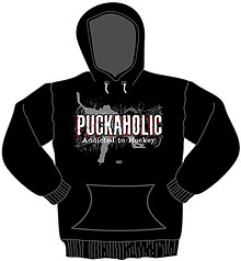 Pure Sport Hooded Hockey Sweatshirt: Puckaholic