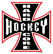 Long Sleeve Hockey T-Shirt: Hardcore Hockey