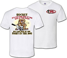 Hockey T-Shirt: Fight In The Dog
