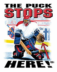 Hockey T-Shirt: The Puck Stops Here