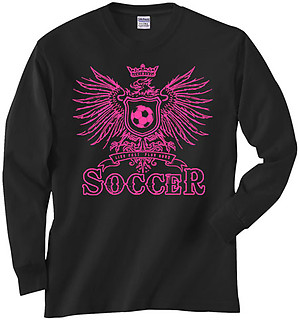 Pure Sport Long Sleeve Soccer T-Shirt: Girls Eagle Soccer