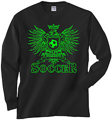 Pure Sport Long Sleeve Soccer T-Shirt: Play Hard Eagle