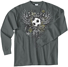 Pure Sport Long Sleeve Soccer T-Shirt: Soccer Wings