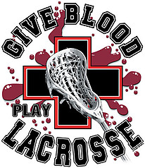 Pure Sport Lacrosse T-Shirt: Give Blood Play Lacrosse