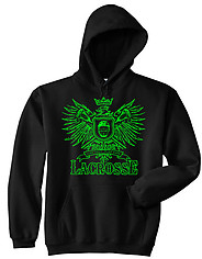 Hooded Lacrosse Sweatshirt: Play Hard Eagle