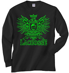 Pure Sport Long Sleeve Lacrosse T-Shirt: Play Hard Eagle
