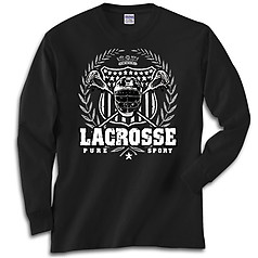 Pure Sport Long Sleeve Lacrosse T-Shirt: Lacrosse Laurel