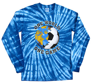 Pure Sport Long Sleeve Soccer T-Shirt: Italy World Cup One World Tie Dye