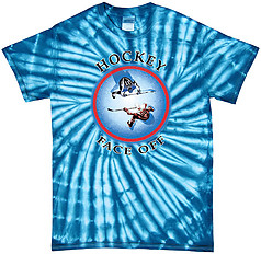 Pure Sport Hockey T-Shirt: Face Off Blue Burst - Tie Dye