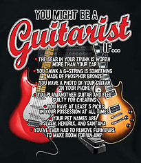 Music T-Shirt: You Might Be A Guitarist