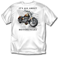 Coed Sportswear Biker T-Shirt: It's All About Motorcycles