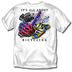 Coed Sportswear Bicycling T-Shirt: All About Bicycling
