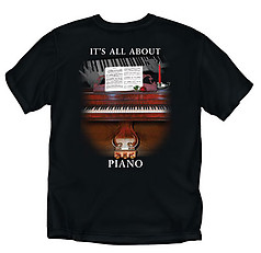 Coed Sportswear Piano T-Shirt: All About Piano