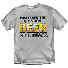 Coed Sportswear Drinking T-Shirt: Beer is Answer