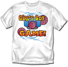 Coed Sportswear Youth Basketball T-Shirt: Girls Got Game