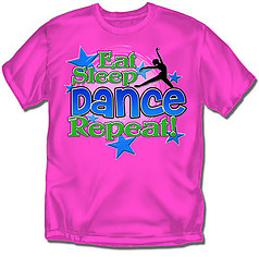 Coed Sportswear Youth Dance T-Shirt: Eat Sleep Dance