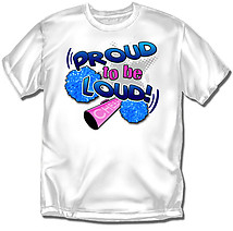 Youth Cheer T-Shirt: Proud To Be Loud Cheer