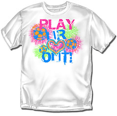 Coed Sportswear Youth Soccer T-Shirt: Play Heart Out Soccer
