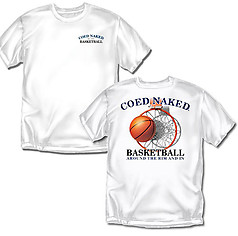 Coed Sportswear Basketball T-Shirt: Coed Naked Basketball