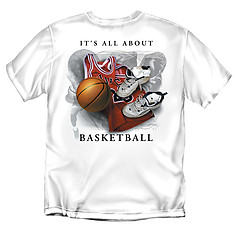 Coed Sportswear Basketball T-Shirt: It's All About Basketball