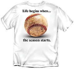 Coed Sportswear Youth Baseball T-Shirt: Life Begins Baseball