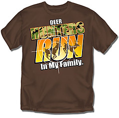 Coed Sportswear Youth Hunting T-Shirt: Hunters Run