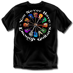Coed Sportswear Guitar T-Shirt: Never Enough Guitars