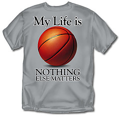 Coed Sportswear Basketball T-Shirt: My Life Basketball