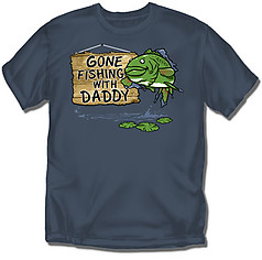 Coed Sportswear Youth Fishing T-Shirt: Gone Fishing