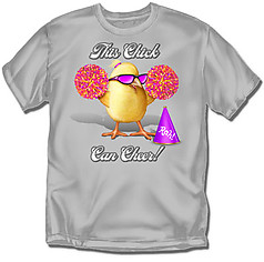 Coed Sportswear Youth Cheer T-Shirt: This Chick Cheerleading