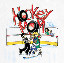 Long Sleeve Hockey T-Shirt: Hockey Mom Penalty