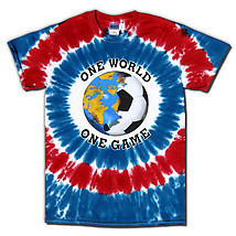 USA World Cup Soccer One World Tie Dye T-Shirt