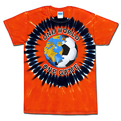Netherlands World Cup Soccer One World Tie Dye T-Shirt