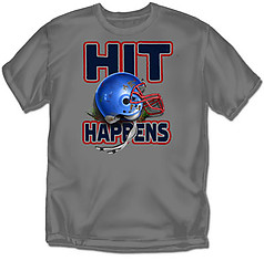 Coed Sportswear Youth Football T-Shirt: Hit Happens