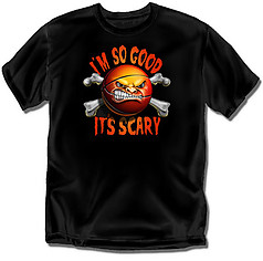 Coed Sportswear Youth Basketball T-Shirt: Scary Good Basketball