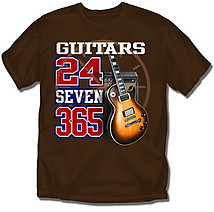 Guitar T-Shirt: Guitars 24-7