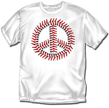 Youth Baseball T-Shirt: Peace Seems Baseball