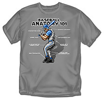 Baseball T-Shirt: Baseball Anatomy - Youth