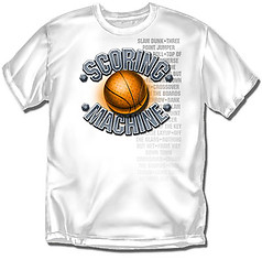 Coed Sportswear Youth Basketball T-Shirt: Scoring Machine