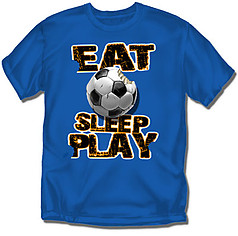 Coed Sportswear Youth Soccer T-Shirt: Eat Sleep Play