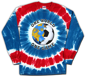 Pure Sport Long Sleeve Soccer T-Shirt: USA World Cup One World Tie Dye