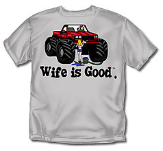 Coed Sportswear Trucker T-Shirt: Wife Is Good Truck