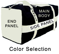 Equipment Bag Color Selection Areas